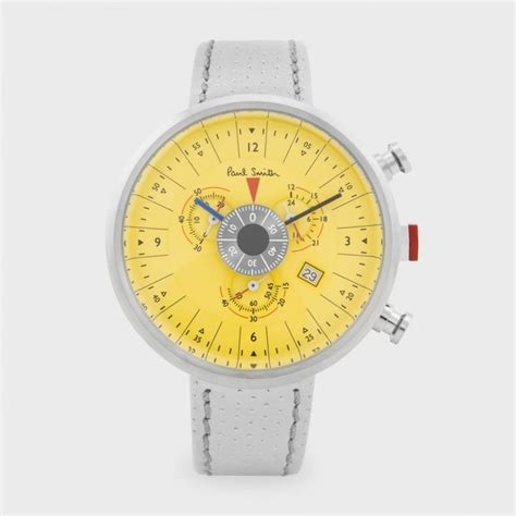 paul smith s watches yellow cycle chronograph