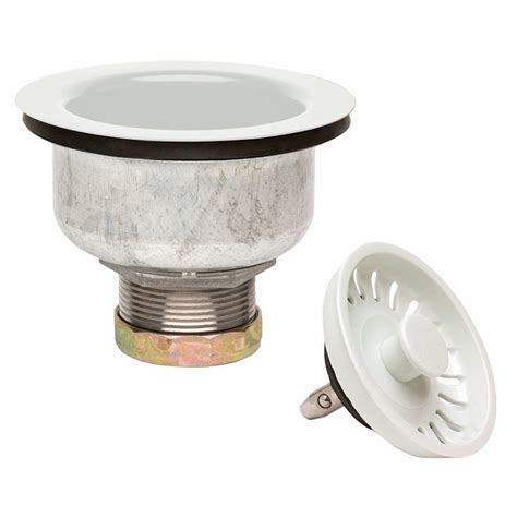 Glacier Bay 4 5 In Double Cup Kitchen Sink Strainer In Glacier Bay Kitchen Sink