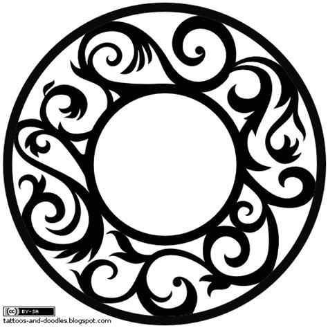 tribal circle tattoo circle tribal image in 2017 real photo pictures