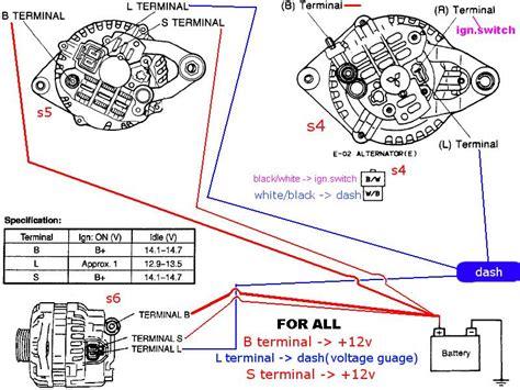 alternator wiring  scratch rxclubcom mazda rx forum