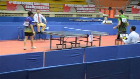 Meja Tenis Meja 1 Set tenis meja table tennis single s asian school tang jiahao vs yat hin