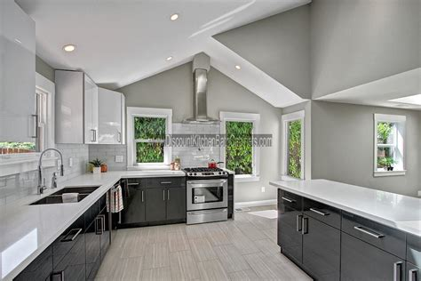 Espresso Shaker Kitchen Cabinets dkbc high gloss acrylic white flat m30 kitchen cabinets