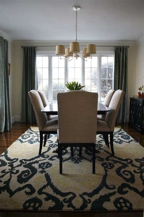 modern dining room rugs ikat rug in dining room contemporary with henry couch west