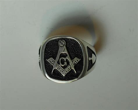 s masonic rings in sterling silver or gold