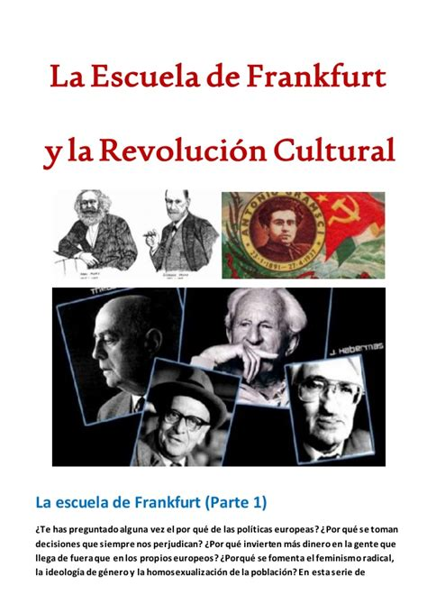escuelas creativas la revolucion la escuela de frankfurt y la revoluci 243 n cultural