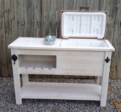 patio chest outdoor rustic wooden cooler bar serving or console table
