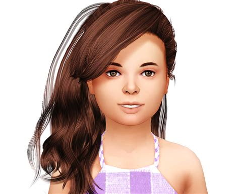 sims 4 children hair lana cc finds stealthic daughter kids version ts4