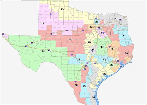 texas state representatives district map map texas congressional districts swimnova