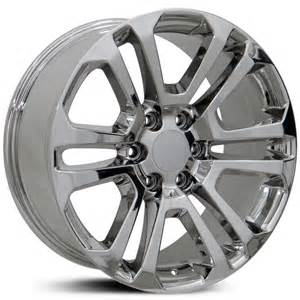 Gmc Truck Chrome Wheels Gmc Cv99 Factory Oe Replica Wheels Rims