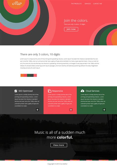 layout web flat 16 premium and free psd website templates