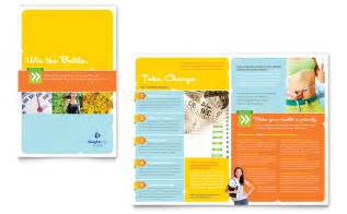 weight loss clinic brochure template word amp publisher