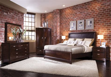 brick bedroom wall brick wallpaper traditional bedroom houston by