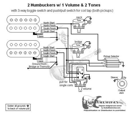 guitar wiring diagram 2 humbuckers 3 way toggle switch 1