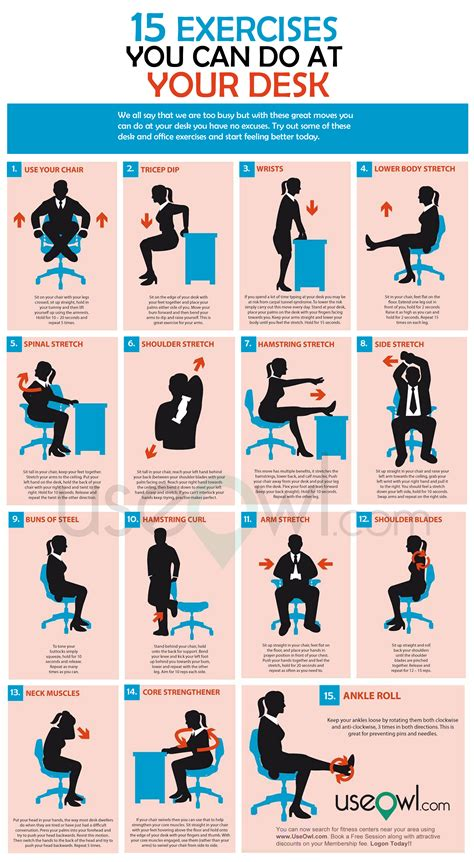 Office Desk Exercise 15 Exercises You Can Do At Desk In Office Useowl