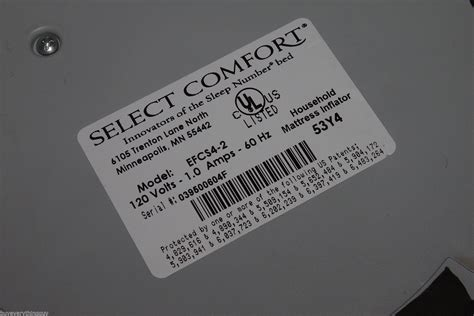 select comfort sleep number select comfort efcs4 2 sleep number wired pump works apr