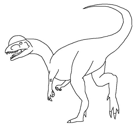 dilophosaurus template by demonicfury on deviantart