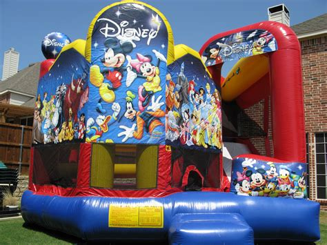 Disney Bounce House by Bounce House Combos Water Slides Denton Water Slide