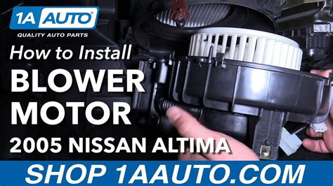 how to replace a blower motor in a 2010 toyota camry how to install replace heater blower motor 2005 06 nissan altima youtube