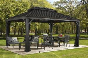 10 X 12 Maestrale Steel Top Gazebo by Messina Hard Top Gazebos Collections Sojag