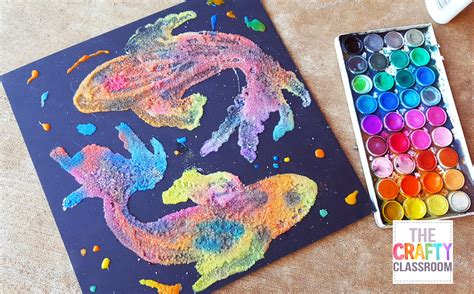 painting craft projects koi watercolor project for