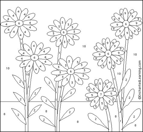 french color by numbers coloring pages daisy color by number in french enchantedlearning com