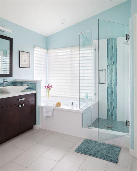 spa blue bathroom contemporary spa inspired bath contemporary bathroom