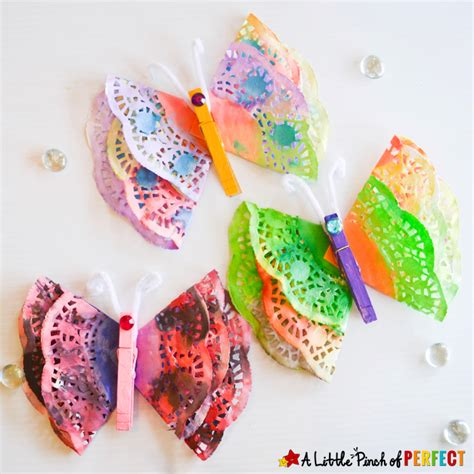doily craft projects beautiful painted butterfly doily craft for