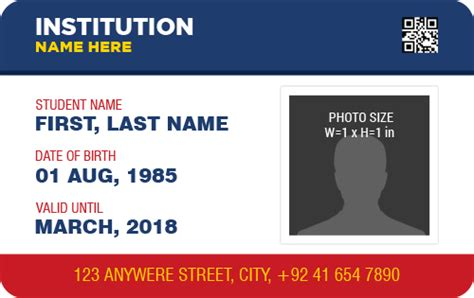 photo identification card template ms word photo id badge templates for all professionals