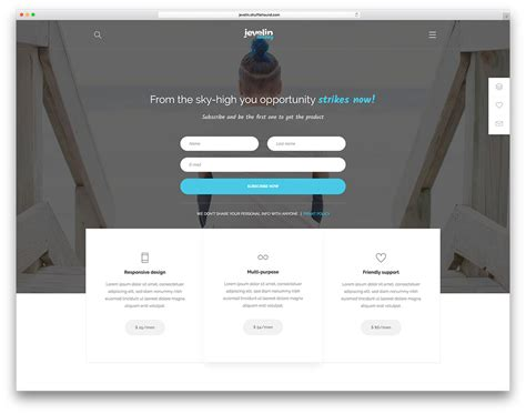 best landing page 40 best landing page themes for apps products