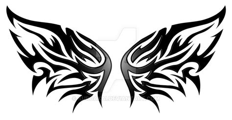 wings tribal v3 by kuroakai on deviantart