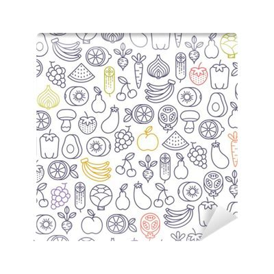 fruit pattern png seamless pattern with fruits and vegetables icons wall