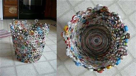 Craft Ideas From Waste Paper - reuse of paper concrete