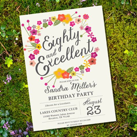 free 80th birthday invitations templates 26 80th birthday invitation templates free sle exle format free premium