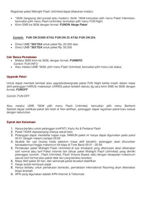 kode paket flash harga 25000 cara daftar paket internet unlimited flash telkomsel