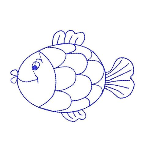 black embroidery pattern black stitches fish embroidery design outline fish sea