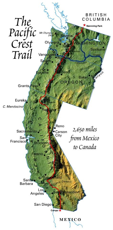 map of oregon pacific crest trail pct thru hike 2012 pct itinerary