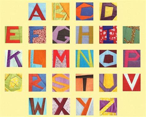 quilt pattern alphabet alphabet letters paper piecing block 3 quot by 3patch craftsy