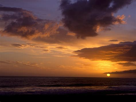 wallpaper gambar pemandangan matahari terbenam sunset