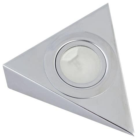 triangular under cabinet kitchen lights arlec 3 x 20w chrome triangle halogen puck light contemporary under cabinet lighting by
