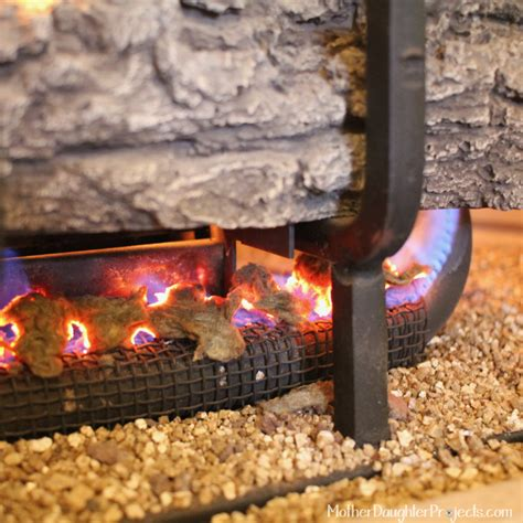 gas fireplace lava rocks embers fireplaces
