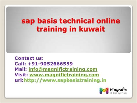 Distance Mba In Kuwait by Sap Basis Technical In Kuwait
