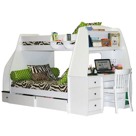 enterprise bunk bed with desk and storage