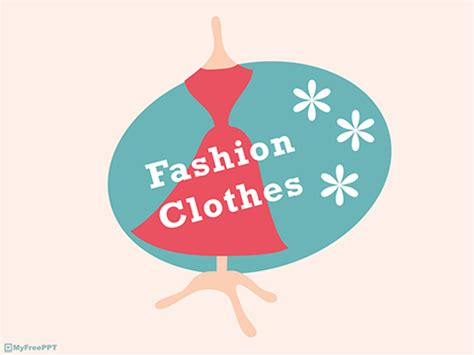 free fashion clothes powerpoint template download free