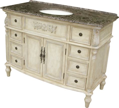48 Inch Bathroom Vanity With Top And Sink 48 Inch Single Sink Bathroom Vanity With A Brown Marble Top Uvlklk1448