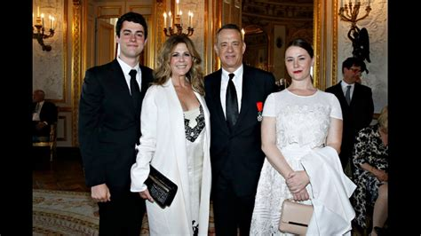 rita wilson daughter actor tom hanks with his wife actress rita wilson and four
