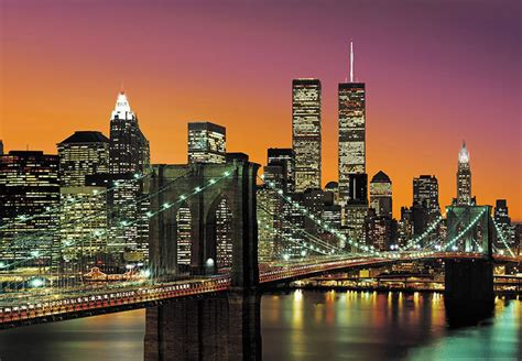 New York Skyline Wall Mural wall mural photo wallpaper new york city brooklyn bridge