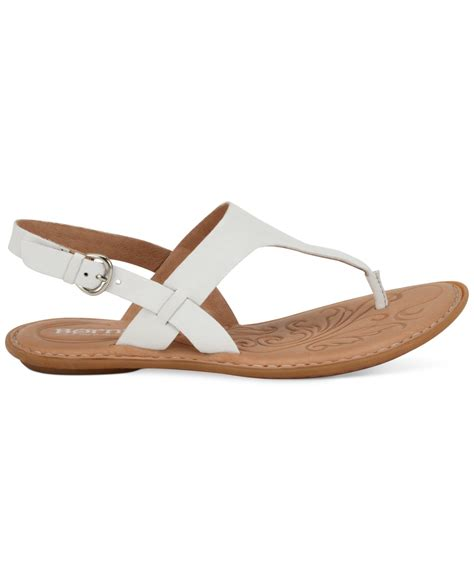 m s flat shoes lyst born mariel flat sandals in white