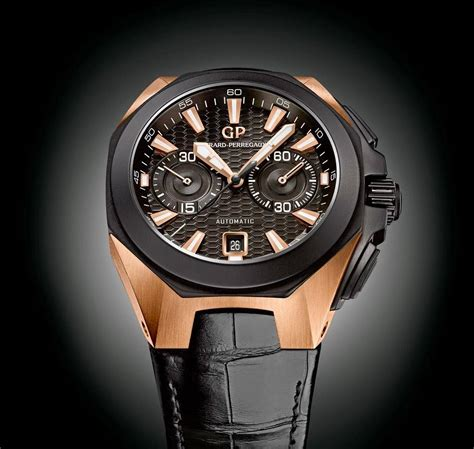 Black Hawk Chrono Black Gold girard perregaux releases chrono hawk pink gold luxury trends 2016 baselworld sihh