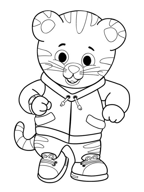 stripeless tiger coloring page free outline of a tiger coloring pages
