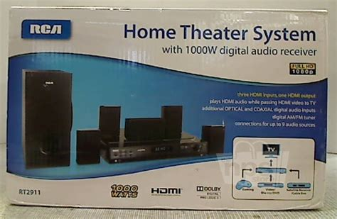 rca rt2911 home theater system with digital audio receiver